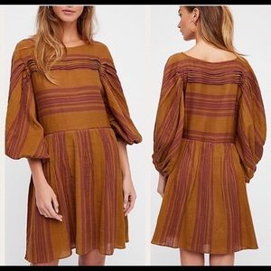 Free People Gauze Striped Dress